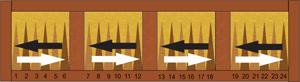 Uitleg speelveld backgammon