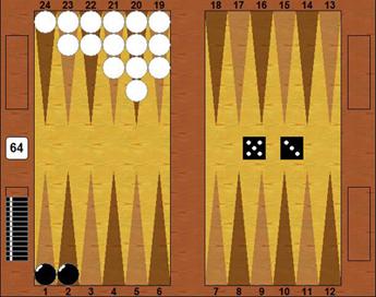 Puntentelling backgammon